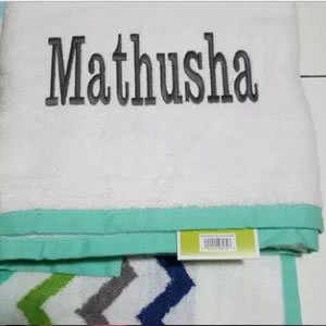 Custom embroidered towels