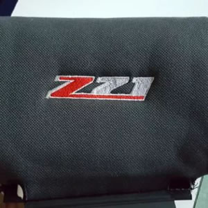 Headrest embroidered with z21 logo